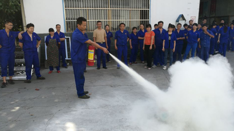 Weiwei Group conducted  fire training and exercises in 2017